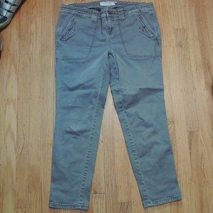 Torrid Cropped Pants Size 14 Gray Stretch
